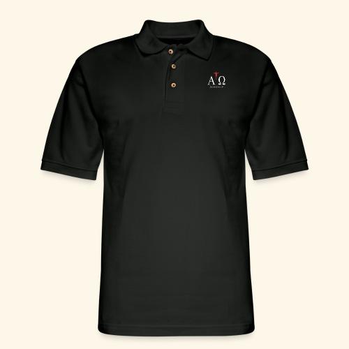 lpha and omega - Men's Pique Polo Shirt