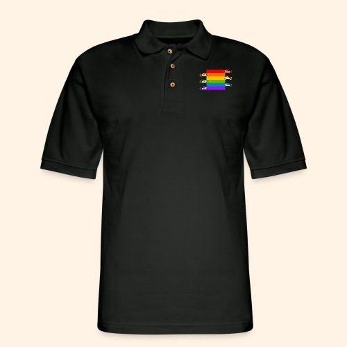 Pride on the Game Grid - Men's Pique Polo Shirt