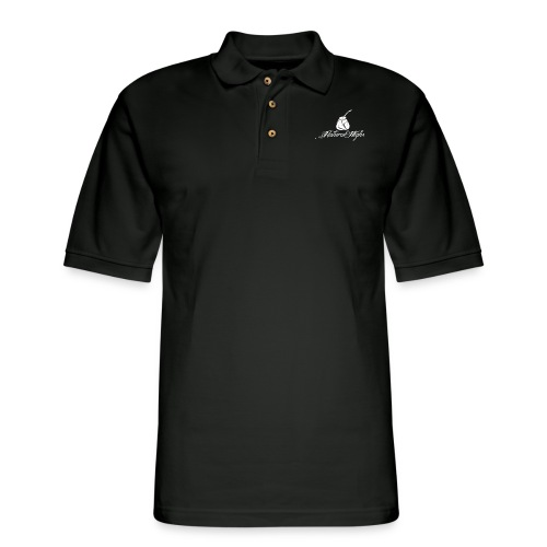 Natural Highs Logo In White - Men's Pique Polo Shirt