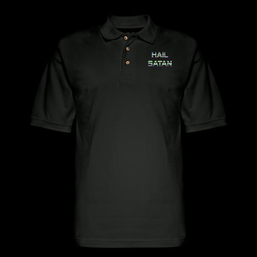 Hail Satan - Vaporwave - Men's Pique Polo Shirt