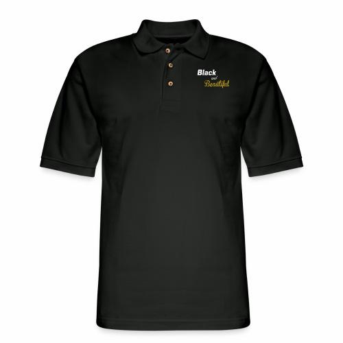 Black & Beautiful Long Sleeve Shirt - Men's Pique Polo Shirt