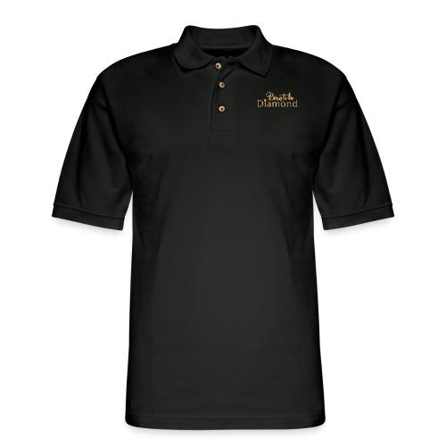 Born to be Diamond - gold - Men's Pique Polo Shirt