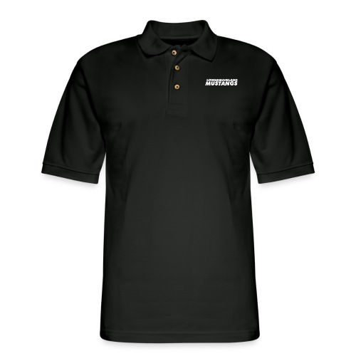 White-Logo - Men's Pique Polo Shirt