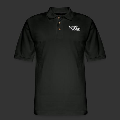 New York (Flexi Print) - Men's Pique Polo Shirt