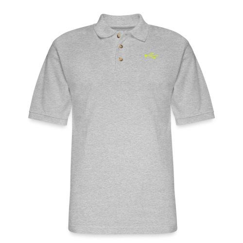 Yellow USB Logo Mid - Men's Pique Polo Shirt