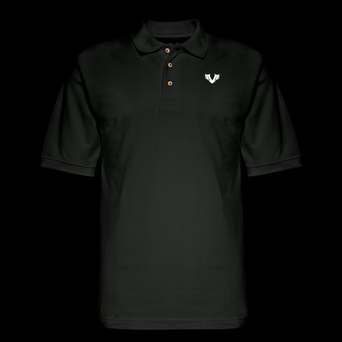 white Villain 2D - Men's Pique Polo Shirt