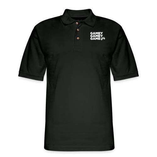 Logo Print - Men's Pique Polo Shirt