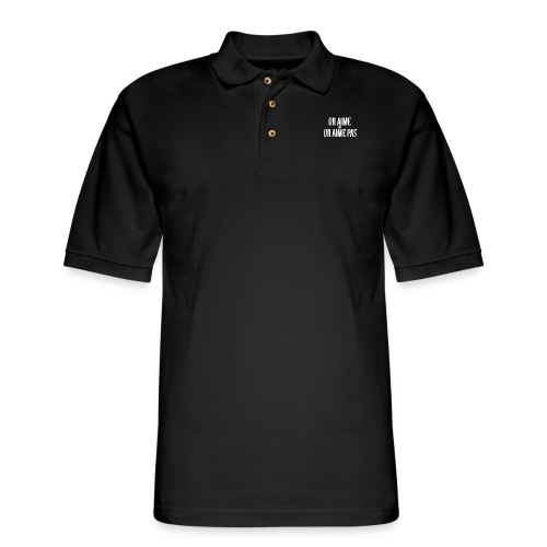 Pull On Aime ou On Aime - Men's Pique Polo Shirt