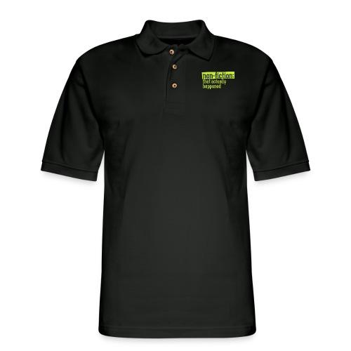 non fiction.png - Men's Pique Polo Shirt