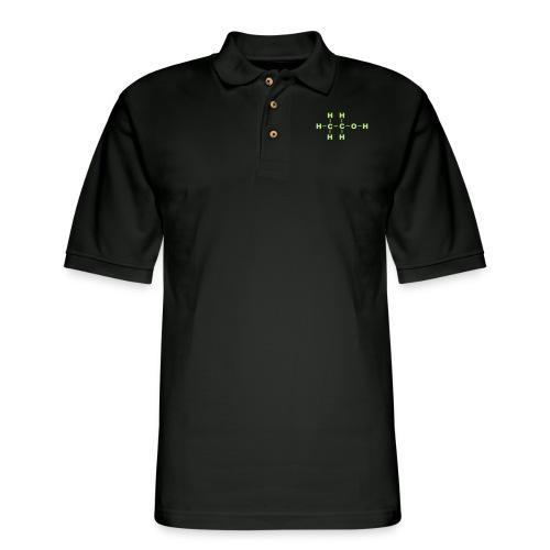 Alcohol Molecule - Men's Pique Polo Shirt