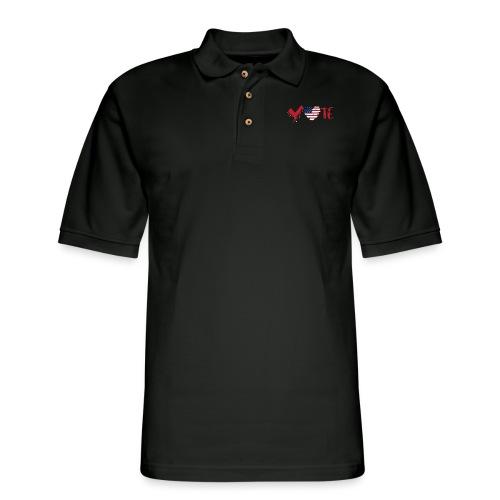 vote heart red - Men's Pique Polo Shirt