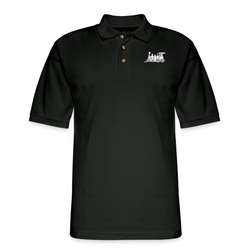steam train - Men's Pique Polo Shirt