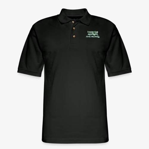 HAZARDUS SPOTLIGHT AND NOBODY - Men's Pique Polo Shirt