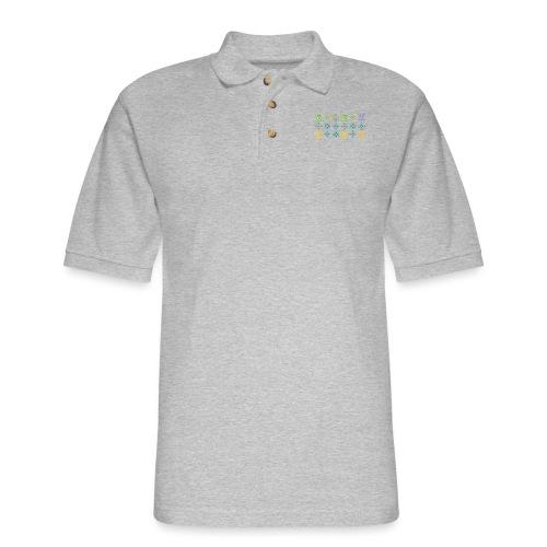 custom coloured LV pattern. - Men's Pique Polo Shirt