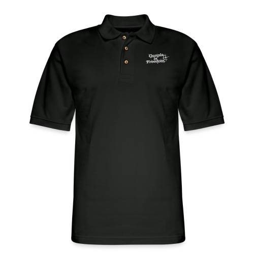 Freedom Men's T-shirt — Banshee Black - Men's Pique Polo Shirt