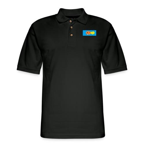 peachy smile - Men's Pique Polo Shirt