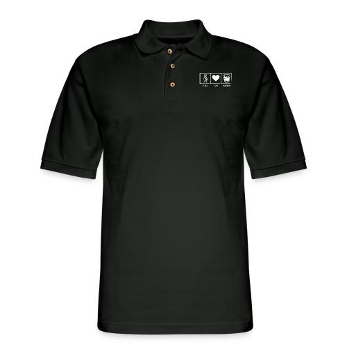 Peace, Love, Bourbon - Men's Pique Polo Shirt