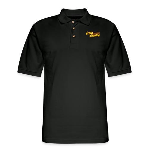 Stay Classy San Diego - Men's Pique Polo Shirt