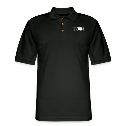 Michigan Dutch (white) - Men's Pique Polo Shirt