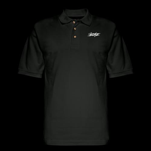 BOTZ White Logo - Men's Pique Polo Shirt