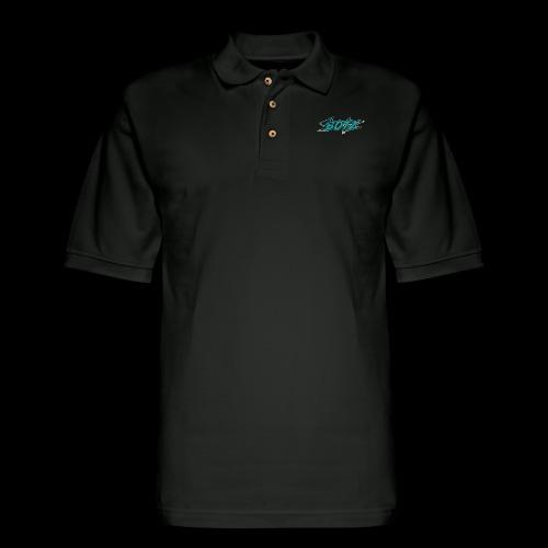 BOTZ Teal Logo - Men's Pique Polo Shirt