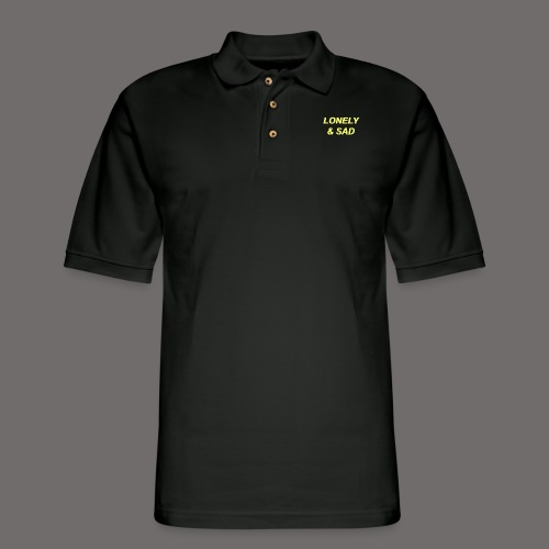 Yellow/Green Italic - Men's Pique Polo Shirt