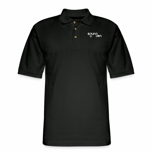 Soundofden The white classical Logo - Men's Pique Polo Shirt