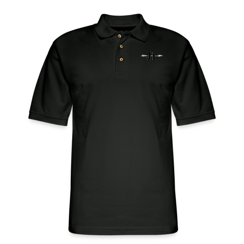 Justin Littlechild Midnight Logo - Men's Pique Polo Shirt