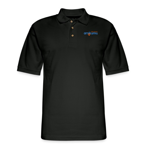 Kaptu min per Amikumu Blua - Men's Pique Polo Shirt