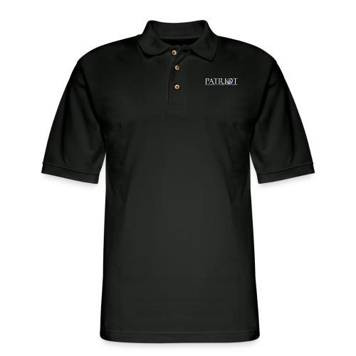 PATRIOT-SAM-USA-LOGO-REVERSE - Men's Pique Polo Shirt