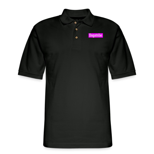 Dogetribe pink logo - Men's Pique Polo Shirt