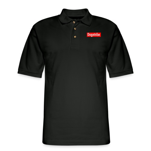 Dogetribe red logo - Men's Pique Polo Shirt