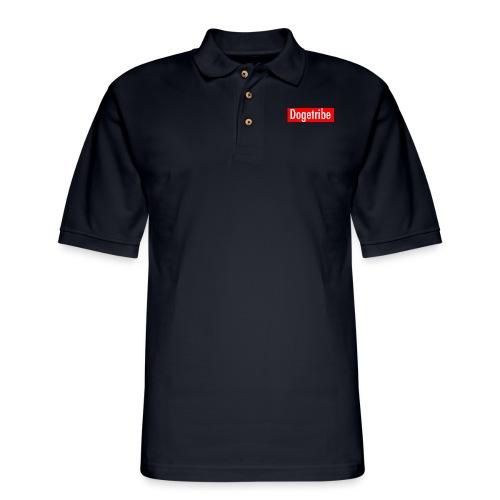 Dogetribe red logo - Men's Pique Polo Shirt
