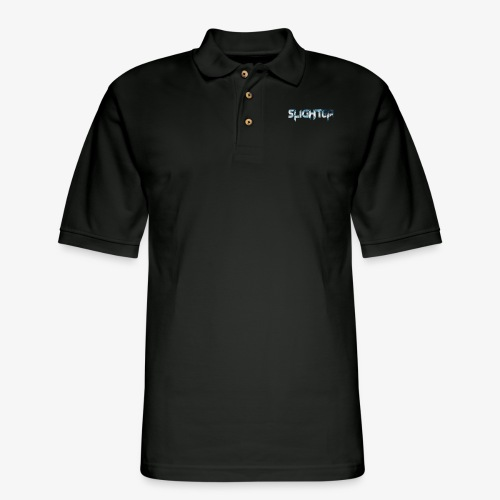 Slighter Blue Ice Logo - Men's Pique Polo Shirt