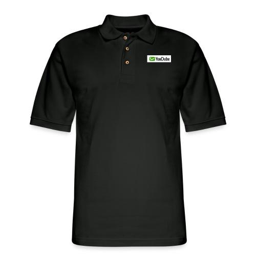 YouDube Logo - Men's Pique Polo Shirt