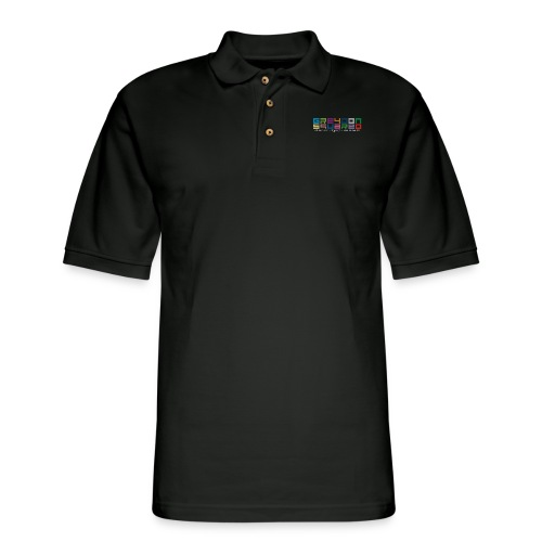 colorfulLOGO2 png - Men's Pique Polo Shirt