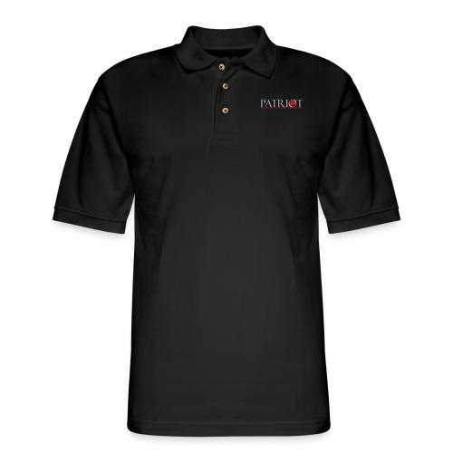 PATRIOT_LOGO_10_-_reverse - Men's Pique Polo Shirt