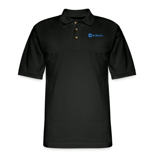 Amikumu Logo Blue - Men's Pique Polo Shirt