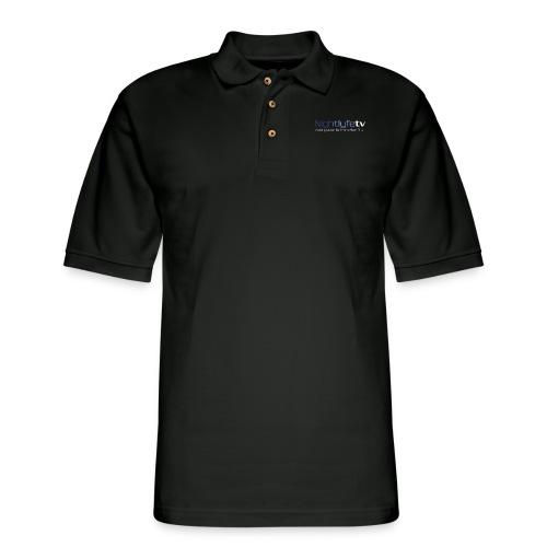 NTV Logo Full - Men's Pique Polo Shirt