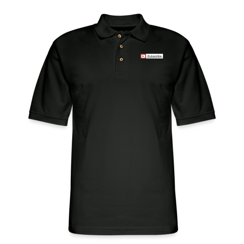 YOUTUBE SUBSCRIBE - Men's Pique Polo Shirt