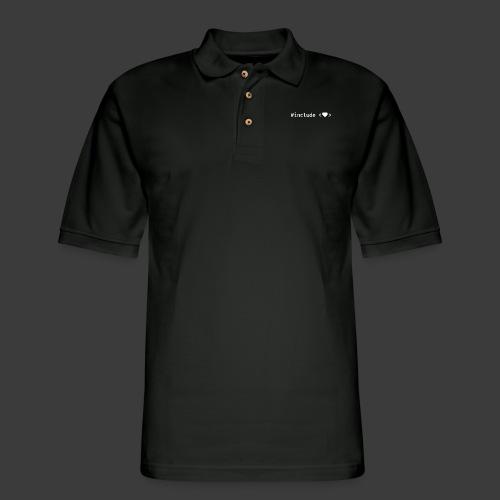 Include Heart (Dark Background) - Men's Pique Polo Shirt