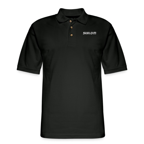 Shalom, Peace - Men's Pique Polo Shirt