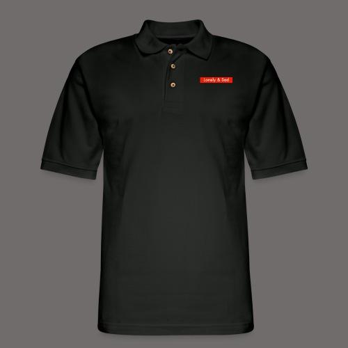 Lonely & Sad Box Logo - Men's Pique Polo Shirt