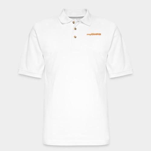 myGMRS.com Text Logo - Men's Pique Polo Shirt