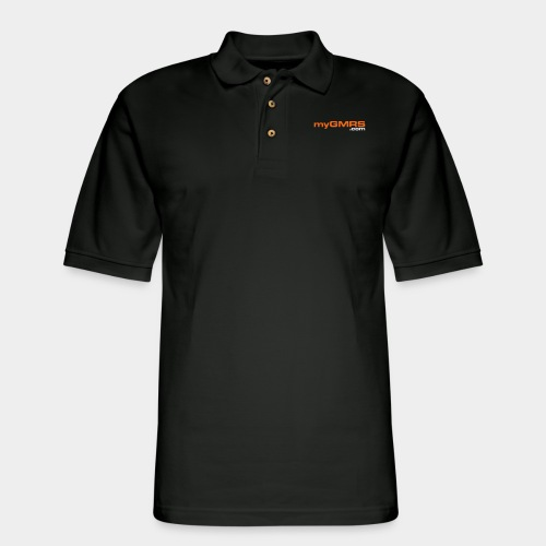 myGMRS.com Text Logo - Men's Pique Polo Shirt