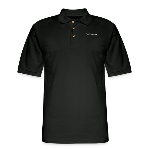 RaceSavvy White Logo Tanks - Men's Pique Polo Shirt
