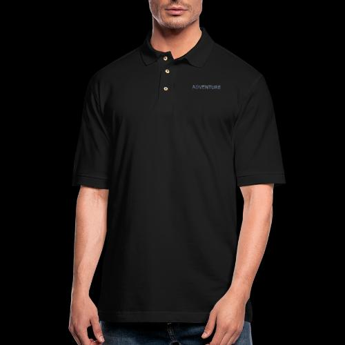 adventure banff mountain - Men's Pique Polo Shirt