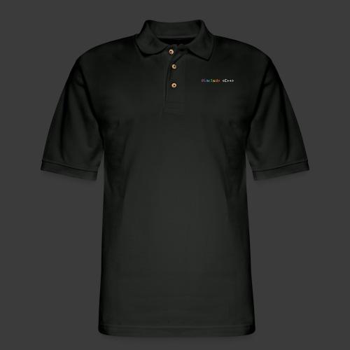 Rainbow Include C++ (Dark Background) - Men's Pique Polo Shirt