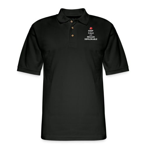 Keep Calm and Remain Deplorable - Men's Pique Polo Shirt