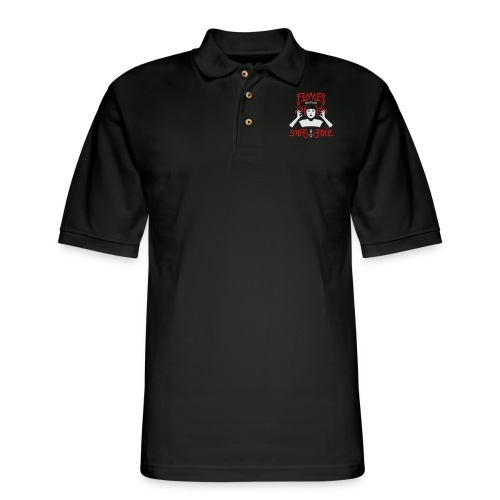 Flames on the Sides of my Face - Men's Pique Polo Shirt